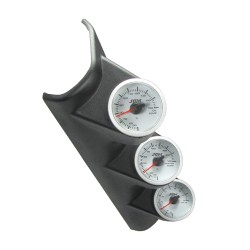 Gauge mounting pod, pillar, triple, black