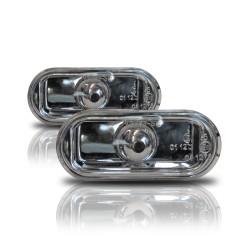 Seitenblinker, Klarglas / chrom passend für VW Golf 3, Golf 4, Vento, Lupo