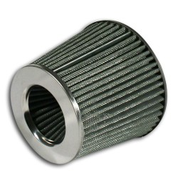 Power- Filter, silver with 60, 70, 76, 84 and 90mm connection