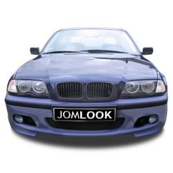 Frontstoßstange im Rennsport-Design mit Kühlergitter, Stoßleisten und Nebelscheinwerferhalterungen passend für BMW 3er E46 Limousine +Touring Baujahr 1998 - 2005