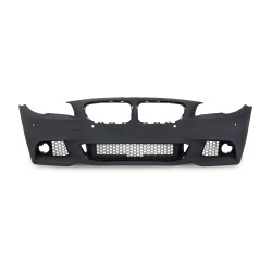 Front bumper in sports design with fog light covers suitable for BMW 5er F10 Limousine year 01.2010-06.2015 and F11 Touring year 04.2010-