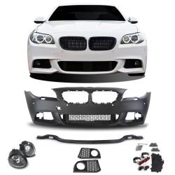 Stoßstange JOM Sport Look vorne, für SRA+PDC, inkl. Nebelscheinwerfer passend für BMW F10 Limo 01/10- + F11 Touring 04/10-
