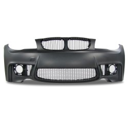 Front bumper in sports design with grille suitable for BMW 1er E81, E82 and E87 year 2004 - 2011