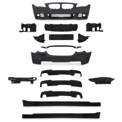 JOM Pare-chocs compatible avec BMW F10, MT, Modèle 2010-2013 convient aux véhicules avec lave-phares (SRA) et PDC - Qualité Allemande