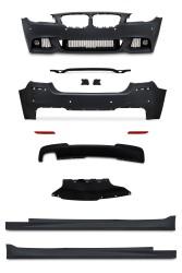 Stoßstangen Kit, JOM, vorne, BMW 5er F10, MT, Bj. 2010-2015, Stoßfänger vorne, - hinten, Seitenschweller und Nebelscheinwerfer passend für BMW 5er F10, 2010-2015
