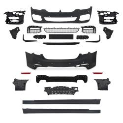 Stoßstangen Kit im Sport-Design inkl. Seitenschweller mit PDC-Bohrungen und SRA passend für BMW 5er G30 Bj. 2017-
