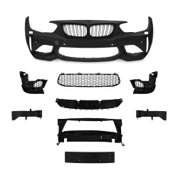Front bumper in sports design incl. kidney and lower grills, with PDC-holes and HCS suitable for BMW F20 LCi / F21 LCi, 2015-2018