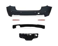 Rear bumper in sports design with PDC holes suitable for BMW F31 Touring year 2012-2015