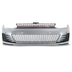 Front bumper incl. grille and fog light with PDC holes suitable for VW Golf 7