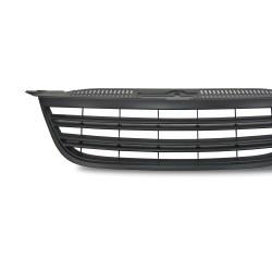 Kühlergrill ohne Emblem, schwarz mit Doppelrippen passend für VW Tiguan Baujahr 2007 - 2011
