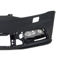 Front bumper in sports design incl. honeycomb grille and fog lights with HCS suitable for VW Polo 6R / 6C Facelift ab 04/2014-2017