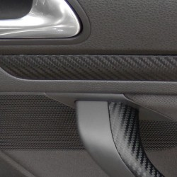 Carbon foil, styling foil, self-adhesive, 30 x 100cm, for interior and exterior use, black