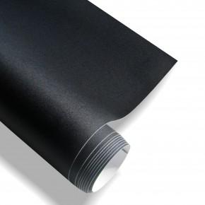 Stylingfolie Schwarz Matt, 152 x 200 cm, geeignet für Innen u. Außen, Selbstklebend, PVC