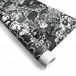 Stylingfolie im Sticker-Design,152 x 200 cm, StickerAlarm Grau, Profifolie mit Luftkanälen und UV-Beschichtung, PVC