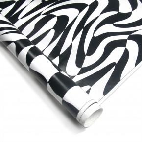 Stylingfolie Erlkönig-Design, schwarz - weiß 152 x 200 cm, geeignet für Innen u. Außen, Selbstklebend, PVC