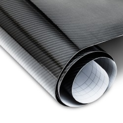 Carbon foil, black 147 x 200 cm, 5D texture, for interior and exterior, self-adhesive, PVC