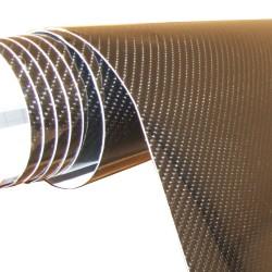 Film carbone noir 147 x 200 cm, texture 5D, usage à l'intérieur et à l'extérieur, autocollant, PVC