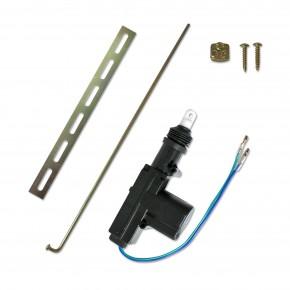 Universal-Stellmotor, 2-polig, als Ersatz, Ergänzung oder Kofferraum Entriegelung oder bei Nachrüstung, Slave-Motor ohne Schalter passend für universal