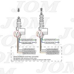 Universal-Stellmotor, Master, 5-Polig, als Ersatz oder universell einsetzbar, mit Steuerschalter passend für universal