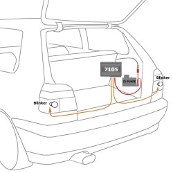Keyless Open-S mit Klappschlüssel, Funkfernbedienung für Zentralverriegelung,Fahrzeugspezifisch mit Klappschlüssel passend für VW Golf 3/ Cabrio 94-98, Golf 4 Cabrio, Passat 92-96, Polo 6N 95-01, Vento