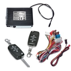 Radio-remote control for centrel locking system, universal, with 2 foldable keys