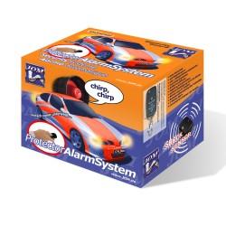 Alarmanlage, universal mit Funkfernbedienung und ZV-Ansteuerung, Erschütterungssensor, Klappschlüssel-Handsender