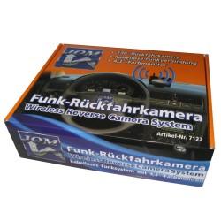 Wireless Funk Rückfahrkamera kabellos mit Monitor Einparkhilfe 14.4cm/4.3 Zoll Farbdisplay wasserdichte Kamera für KFZ SUV Van Anhänger Bus