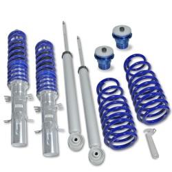 Kit suspension combiné fileté, BlueLine, AV 25-60 / AR 20-40 mm, fileté / ressort - Qualité allemande