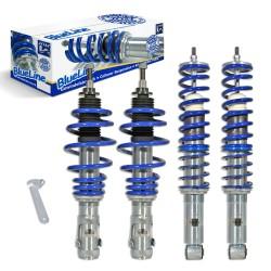 BlueLine Gewindefahrwerk ,Keilform-Tieferlegungen VA/HA 40-55 mm, Variant 99-01 (6N/2), Gewinde passend für VW Polo 6N Facelift, Variant 99-02 (6N/2)