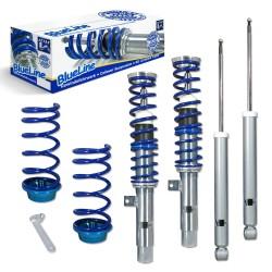 BlueLine Gewindefahrwerk, Keilform-Tieferlegungen VA/HA 30-60 mm, Gewinde/Feder passend für Ford Focus 1.4/1.6/1.8/2.0/1.8TD,TDdi,TDCi ohne 2.0 RS/ Turnier 10.98-04