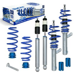 BlueLine Coilover Kit suitable for Audi A3 (8P) 1.9TDi / DSG, 2.0TDi/ DSG, except vehicles with four-wheel drive