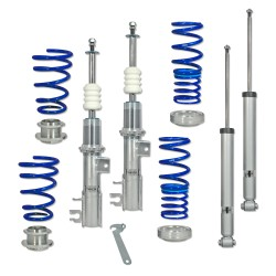 BlueLine Gewindefahrwerk passend für Fiat Grande Punto 199 1.2, 1.4,1.4 16V, 1.3D, 1.4T-Jet, 1.9D ab Baujahr 2005-