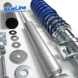 BlueLine Gewindefahrwerk passend für Volvo 850 inkl. Kombi-Modelle Typ LS, LW  2.0i, 2.5i, 2.5i 20V, 2.3i T 20V Baujahr 1991 - 1996, außer Fahrzeuge mit Allradantrieb , Volvo S70 und V70 Typ L  2.0, 2.4, 2.4T, 2.5, 2.5 20V, 2.5T, 2.5TDi, 2.5D Baujahr 1996