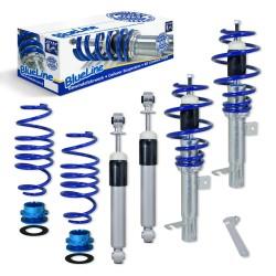 BlueLine Gewindefahrwerk ,Keilform-Tieferlegungen VA 30-70 / HA 30-60,  Gewinde/ Feder passend für Mazda 2 DY/B2W 1.25/1.4/1.6/1.4CD 03-07