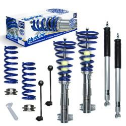 BlueLine Gewindefahrwerk , Keilform-Tieferlegungen, Gewinde/ Feder, inklusive Stabilisator passend für Mercedes C- Klasse (W203) Limo C180/ C200/ C220/ C230/ C240/ C270/ C280/ C320, 00-07, Coupe (CL203) C160/ C180/ C200/ C220/ C230/ C320/ C350, T-Model C1