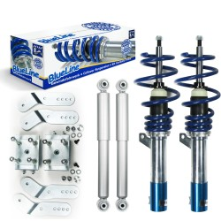 BlueLine Coilover Kit suitable for VW Caddy 3 (2KA/2KB) 1.2, 1.6, 2.0, 2.0SDi, 1.6TDi, 1.9TDi year 2004-, except models with DSG or four-wheel drive