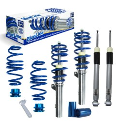 BlueLine Coilover Kit suitable for Seat Leon incl. ST-models (5F) 1.2 TSI, 1.4 TGI, 1.4 TSI, 1.6 TDI, 1.8 TFSI, 2.0 TDI year 2012-, only for vehicles with independent rear suspension