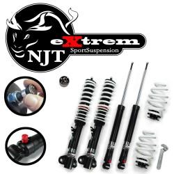 NJT eXtrem Gewindefahrwerk härteverstellbar passend für BMW E36 4 und 6 Zylinder, Baujahr 06.1992-2000