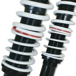 NJT eXtrem Gewindefahrwerk härteverstellbar passend für VW Polo 6N inkl. Variant-Modelle bis Baujahr -1999 und Caddy Baujahr 1996-2004 (nur VA Dämpfer)