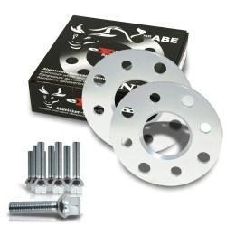 Kit d'élargisseurs 10mm avec vis de roue pour Audi TT 8N / Audi TT Roadster 8J