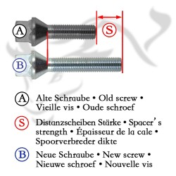 Spurverbreiterung Set 20mm inkl. Radschrauben passend für Audi 80 (B4/89Q), 90 (B4/89Q)