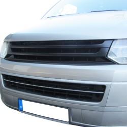 Kühlergrill ohne Emblem, schwarz passend für VW T5  Typ 7J/7H Bus + Transporter (auch passend für Multivan) Facelift ab Baujahr 11/2009-10/2015