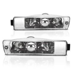 Frontblinker, Blinker, mit Standlichtfunktion, Klarglas / chrom passend für VW Jetta 2 (19E, 1G2) Baujahr 01.1984-12.1992 und VW Golf 2 (19E, 1G1) Baujahr 09.1989-12.1992