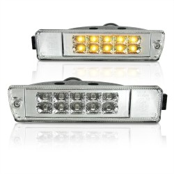 Frontblinker, Blinker, LED, 08/89-, Klarglas/chrom passend für VW Jetta 2 (19E, 1G2) Baujahr 01.1984-12.1992 und VW Golf 2 (19E, 1G1) Baujahr 09.1989-12.1992