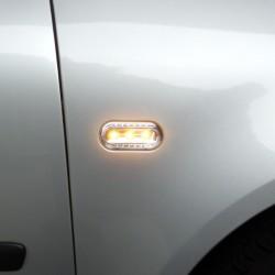 Seitenblinkleuchten LED, klar/chrom passend für Golf 3/4, Vento 96-, Lupo, Passat B5, Polo 2000-, Leon + Toledo 1L