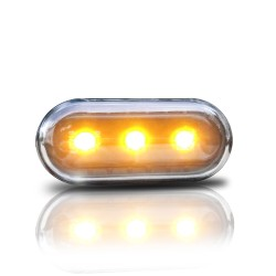 Seitenblinkleuchten klar/schwarz LED passend für Golf 3/4, Vento 96-, Lupo, Passat B5, Polo 2000-, Leon + Toledo 1M