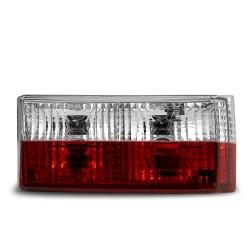 Rückleuchten Kristallglas rot-weiss passend für Golf 1 Bj. 1974 - 1980 und Cabrio Typ 155 Bj. 1979 - 1993