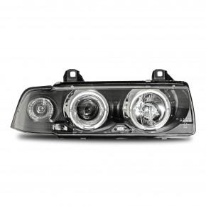 AE-Design Scheinwerfer mit Halogen Ringen und Blinkern passend für BMW 3er E36 Limousine und Touring