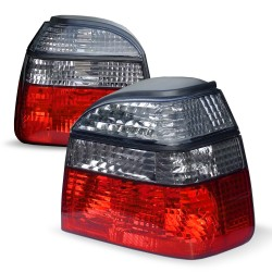 Rückleuchten, kristall / schwarz / rot passend für VW Golf 3 Bj. 91-97