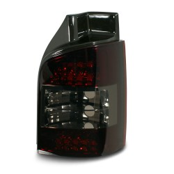 LED rear lights black suitable for VW T5 year 2003-, only for vehicles with tailgate